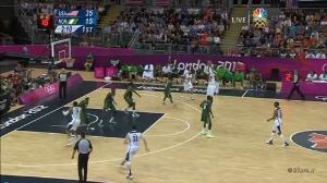 ده شوت سه امتیازی کارملو انتونی در بازی مقابل تیم بسکتبال نیجریه