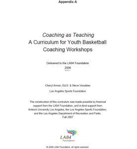 یک برنامه آموزشی برای کارگاه آموزشی مربیگری بازیکنان جوان بسکتبال