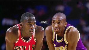 کوبی برایانت و مایکل جردن دو اسطوره بسکتبال