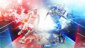 LeBron vs Durant 2012 Christmas Day Wallpaper